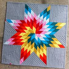 Best 25+ Lone star quilt ideas on Pinterest | Lone star quilt ... & Bright spiraling star by Lisa Filion. Would be awesome as a single star,  huge, for a whole quilt Adamdwight.com