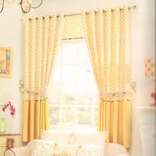 Window Curtain For Living Room Polk Dot Yellow Bay Window Curtains For Living Room