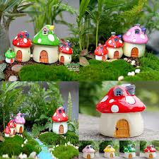 garden ornaments and accessories. Garden Ornaments And Accessories Fresh Mushroom House Resin Figurine Craft Pot Fairy Decor I