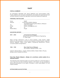 Resume Sample Pdf Malaysia Complete Resume Sample Fresh Graduate