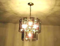 beveled glass chandelier antique brass leaded makeover