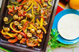 sheet pan shrimp fajitas sheet pan citrus rock shrimp fajitas food fanatic