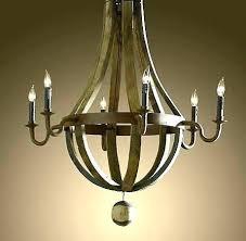 bronze chandelier chandeliers wine barrel 6 arm lighting crate and shades bar crate barrel