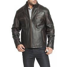 men s designer cowhide brown leather motorcycle jacket