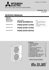 puhz shw112 140v yha service manual och526 mitsubishi electric page 1 zoom in