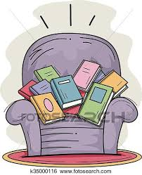 sofa chair clip art.  Chair Clip Art  Books Sofa Chair Full Fotosearch Search Clipart Illustration  Posters And