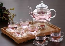 home teaware teaware glass teaware tea set 8 piece glass tea set 600ml teapot with infuser teapot warmer 6 cups