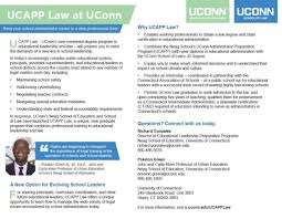 Law Uconn Administrator Preparation Program Ucapp