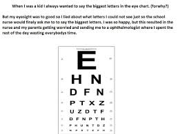 Lying Eye Chart Lying To The School Nurse Because Dumb Kidsarefuckingstupid