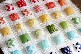image of new charm pack baby quilt