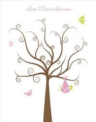 ElephantFingerprintTreeforBabyShowerbyHummingbirdShops Fingerprint Baby Shower Tree