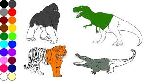 colouring pages of animals. Simple Colouring Wild Animals Coloring Pages  Name And Sound Learning Animal For Kids On Colouring Of P