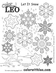 Snowflake Coloring Pages For Adults Snow Globe Page Worksheets And ...