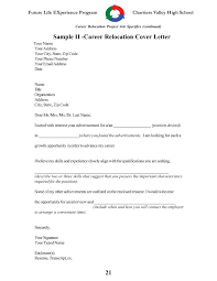 Cover Letter Example Relocation Addressing Relocation In Cover Letter Gallery Cover Letter Sample