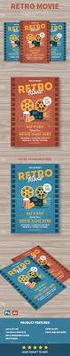 Retro Movie Flyer | Flyer Template, Ai Illustrator And Retro