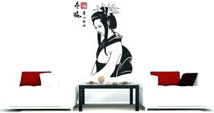 japanese wall decor oriental wall decor oriental wall decor my geisha decals with a z dragon large