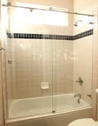 framless sliding shower door