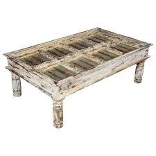 winter white distressed mango wood coffee table distressed coffee table modern