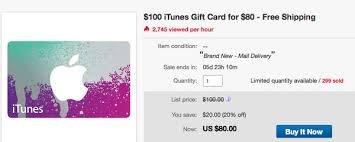 itunes card deals on twitter 80 for 100 physical gift card 20 disc via giftcardmall on ebay free usps shipping s t co sc1d3moaj2