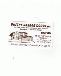 dusty s garage doors garage door services 817 s lakeview ave placentia ca phone number yelp