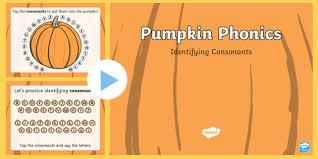Pumpkin Phonics Consonants Interactive Powerpoint
