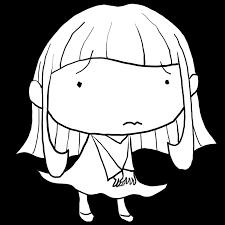 風でスカートがめくれるのか今にも泣きそうな困っている様子の水玉