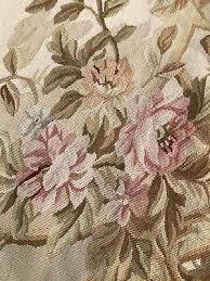 french antique needlepoint 9x6 area rug 6