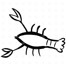 Lobster outline drawing a cartoon ...