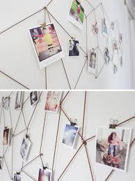 diy polariod photo wall art on bedroom wall decor ideas diy with slumber space 6 bedroom wall decor ideas