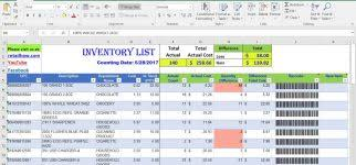 Ordering Spreadsheet Inventory Control Excel Spreadsheet For Retail Ordering My