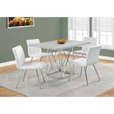 monarch dining table in cement grey with chrome me