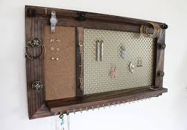 Jewelry Organizer Wall Jewelry Organizer Wooden Wall Hanging Jewelry Holder And Display
