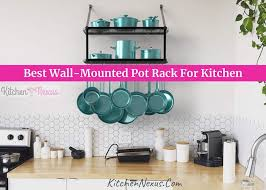 best wall mounted pot rack for kitchen