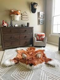 fox rug faux fox rug woodland camping