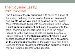 the odyssey essay the introduction ppt video online  the odyssey essay the introduction