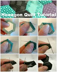 Hexagon Quilt Tutorial - & hexagon quilt tutorial - learn how to make the hexagons by hand! Great  tutorial plus Adamdwight.com