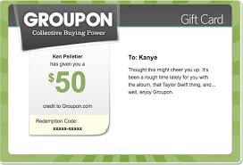 a groupon gift card can be sent in an email or you can print it out to hand deliver or pop into a birthday card