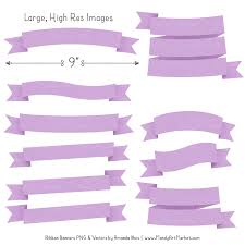 Purple Ribbon Banner Lavender Ribbon Banner Clipart