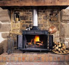 using a wood burning stove to heat the room you re in rather