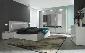Schlafzimmer Komplett Set D Psara 5 Teilig Farbe Weiß Hochglanz
