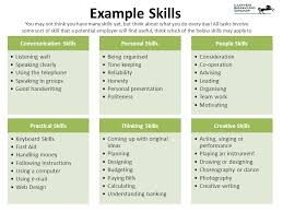 cv writing skills what is a cv it takes time to produce a good  example skills you not think you have many skills yet but think about what