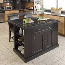 furniture kitchen island. home styles black midcentury kitchen island with 2-stools furniture 0