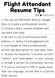 Resume Templates Flight Awesome Attendant Career Objective Template