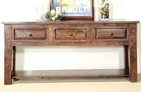 narrow wooden table console table design tall with storage rectangle brown varnished wooden drawer and lower