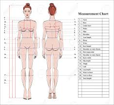 Body Fitness Chart Woman Body Measurement Chart Scheme For Measurement Human Body