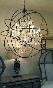smoke crystal chandelier restoration hardware orb pictures gallery of impressive with crystals smoke crystal chandelier