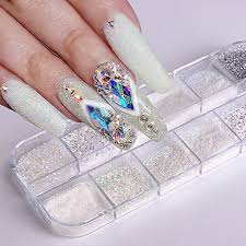 779 1ks Umělé Tipy Na Nehty Glitter Pro Módní Design Svítící Nail Art Manikúra Pedikúra Retro Svatebnívečírek Denní Nošení