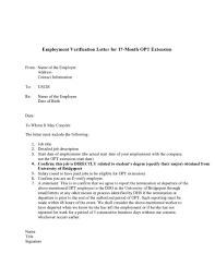Uscis Employment Verification Letter The Letter Sample