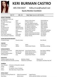 sample dance audition resume related audition resume format