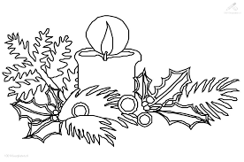 1001 Kleurplaten Kerst Kaarsen Kaars Met Hulst Kleurplaat